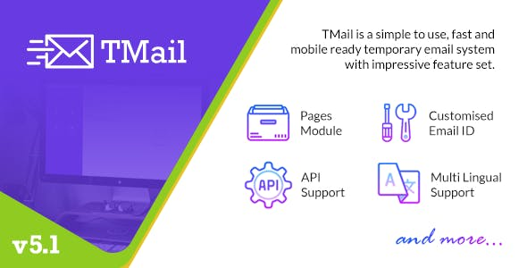 TMail v5.1.1 – Multi Domain Temporary Email System