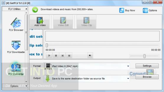 GetFLV Pro Direct Link Download