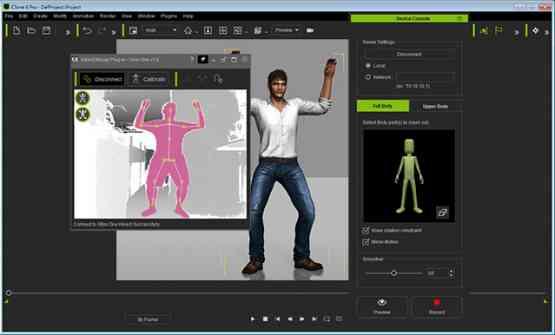 iClone Mocap Plug-in for Kinect Motion Capture Offline Installer Download
