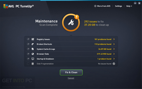 AVG PC TuneUp 2017 Offline Installer Download
