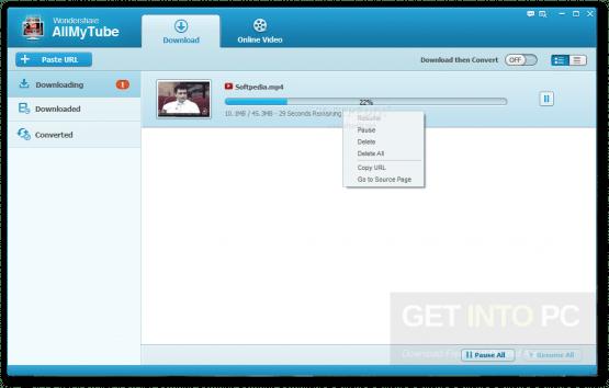 Wondershare AllMyTube Offline Installer Download