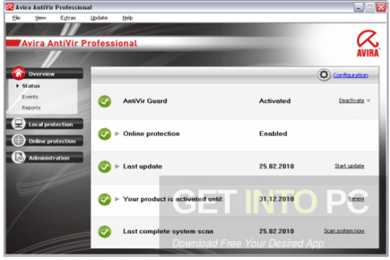 Avira Antivirus Pro v15 Offline Installer Download