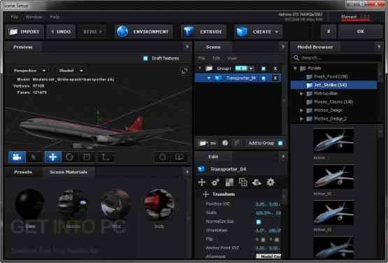 Video Copilot Element 3D 2.2.2 CE + 3D Packs + Pixel Lab Material Pack Offline Installer Download