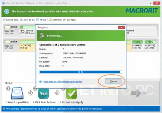 Partition Extender Portable Offline Installer Download
