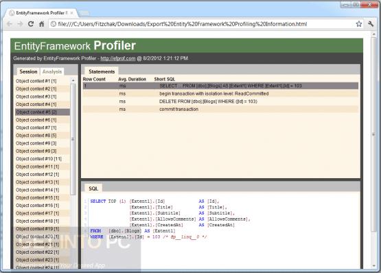 Entity Framework Profiler 4 Latest Version Download