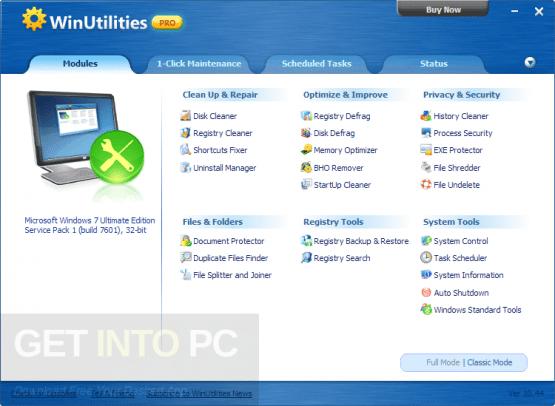 WinUtilities Professional Edition 13 Offline Installer Download
