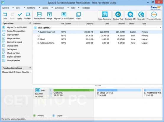 EASEUS Partition Master 12.5 Technician Direct Link Download