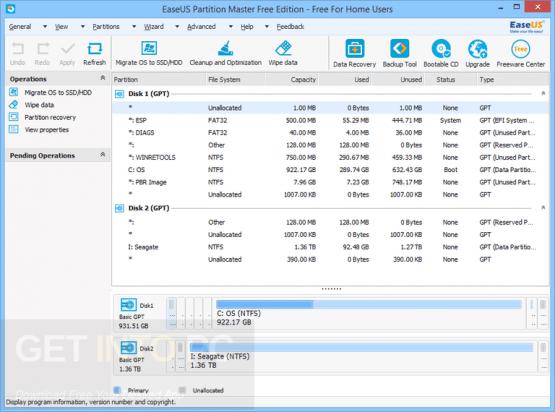EASEUS Partition Master 12.5 Technician Offline Installer Download