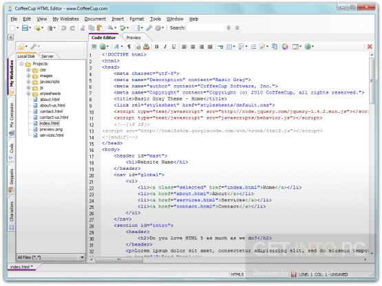 CoffeeCup HTML Editor Offline Installer Download