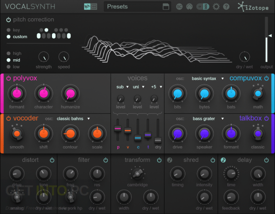 iZotope VocalSynth Offline Installer Download