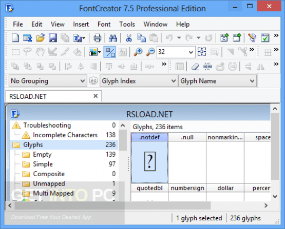 FontCreator Professional 11.5.0.2421 Direct Link Download
