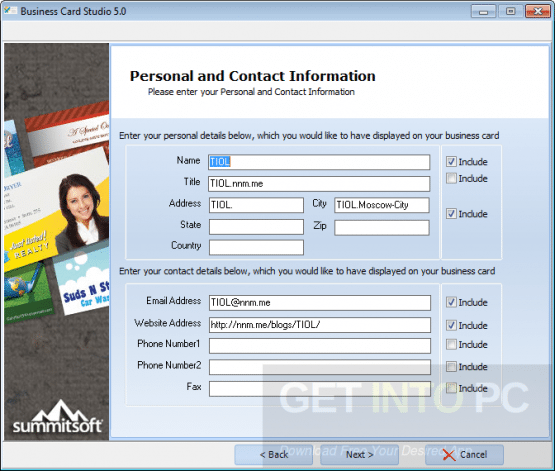 Summitsoft Business Card Studio Deluxe Direct Link Download