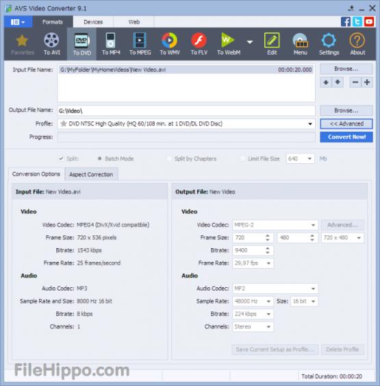 AVS Video Converter 10.1.1.621 + Menu Pack Direct Link Download