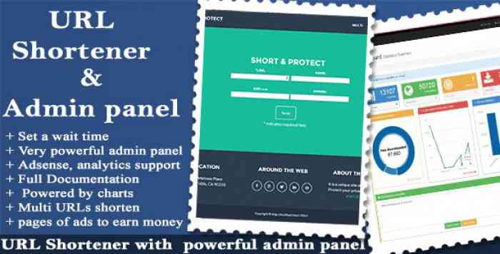 URL Shortener with Ads and Powerful Admin Panel v1.8.8