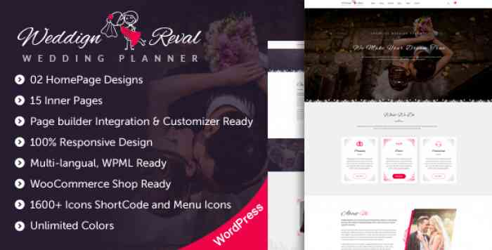 WEDDING REVAL V1.2 – WEDDING PLANNER & AGENCY THEME
