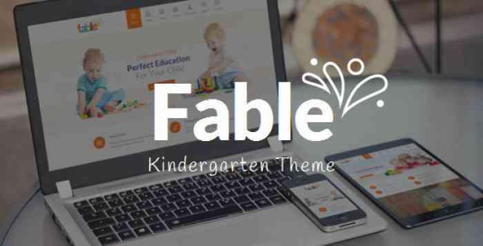 FABLE V3.1 – CHILDREN KINDERGARTEN WORDPRESS THEME