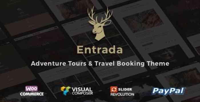 ENTRADA V3.7.8 – TOUR BOOKING & ADVENTURE TOUR