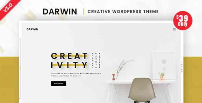 DARWIN V3.0 – CREATIVE WORDPRESS THEME