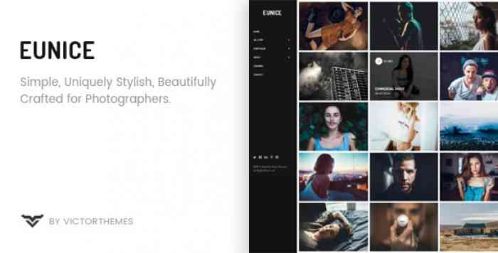 EUNICE V1.5 – PHOTOGRAPHY PORTFOLIO WORDPRESS THEME