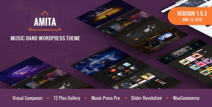 AMITA V1.5.3 – MUSIC BAND WORDPRESS THEME