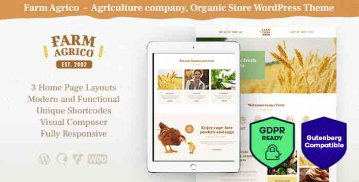 FARM AGRIC V1.1 – AGRICULTURAL BUSINESS WORDPRESS THEME