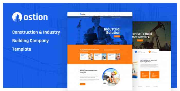 OSTION – CONSTRUCTION & INDUSTRY BUILDING COMPANY PSD TEMPLATE