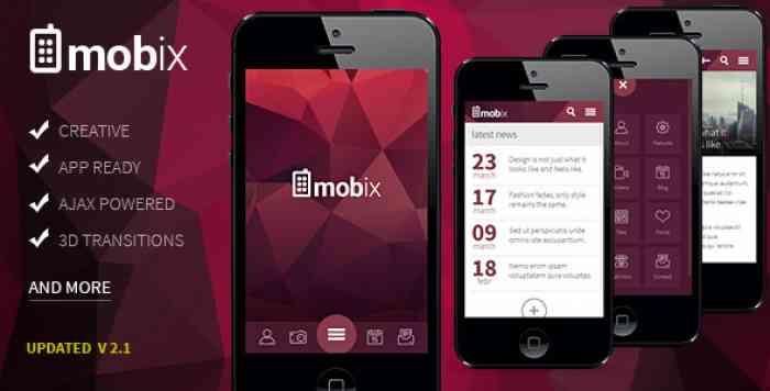 MOBIX V2.2 – HTML MOBILE TEMPLATE