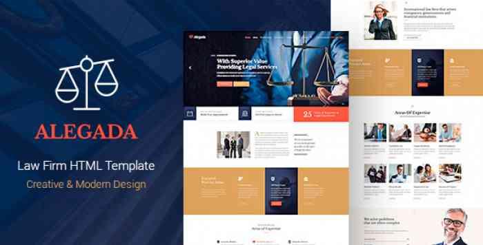 ALEGADA – LAW HTML TEMPLATE