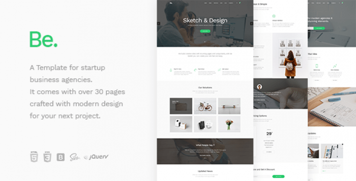BE – STARTUP BUSINESS HTML TEMPLATE