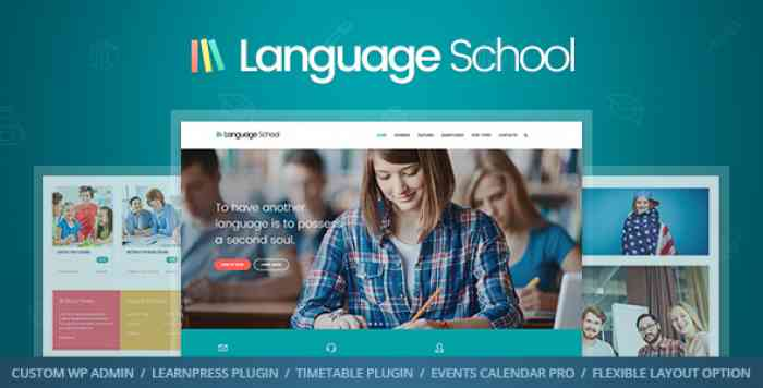 LANGUAGE SCHOOL V1.1.4 – COURSES & LMS THEME