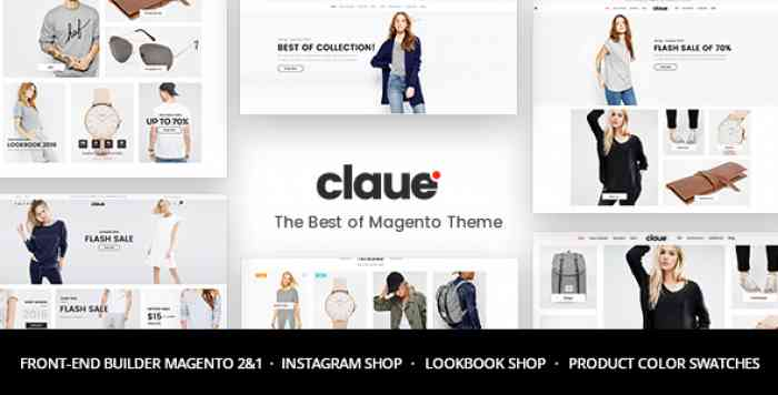 CLAUE V1.7.6 – CLEAN, MINIMAL MAGENTO 2 AND 1 THEME