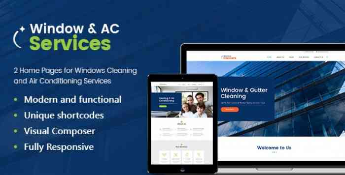 AC SERVICES V1.2.5 – AIR CONDITIONING AND HEATING COMPANY WORDPRESS THEME