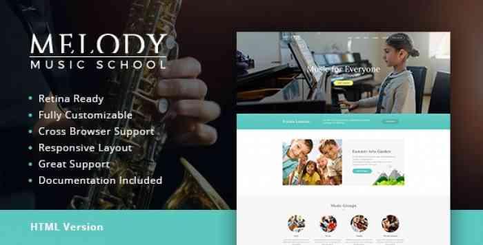 MELODY V1.1 – MUSIC SCHOOL HTML TEMPLATE