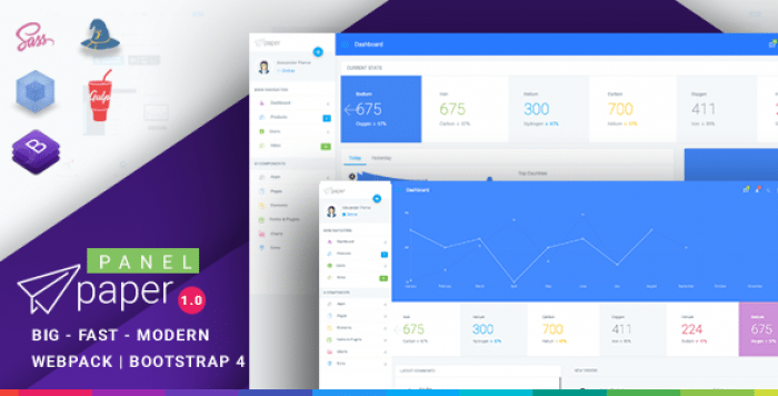 PAPER BOOTSTRAP 4 ADMIN TEMPLATE V1.0.1