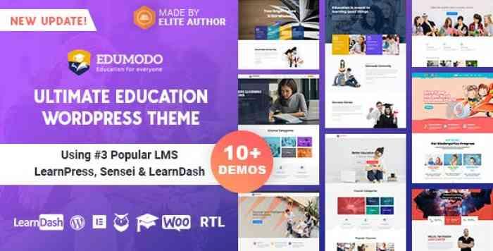 EDUMODO V2.5.6 – EDUCATION WORDPRESS THEME