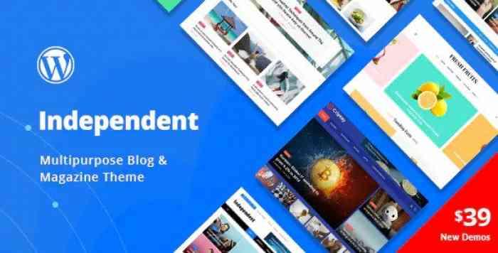 INDEPENDENT V1.0.7 – MULTIPURPOSE BLOG & MAGAZINE THEME