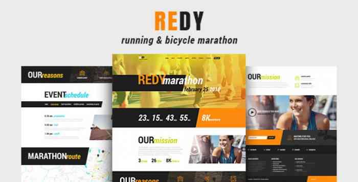 REDY V1.0.3 – MARATHON & SPORTS WORDPRESS THEME