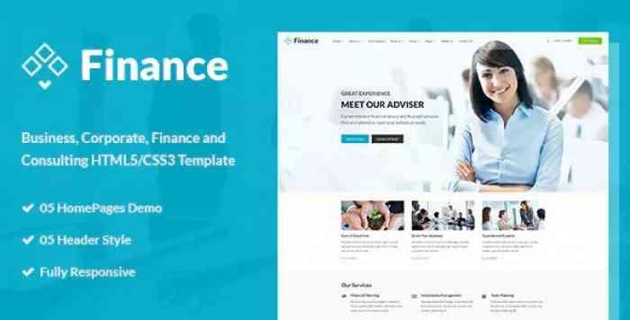 FINANCE – BUSINESS & FINANCIAL HTML5 TEMPLATE