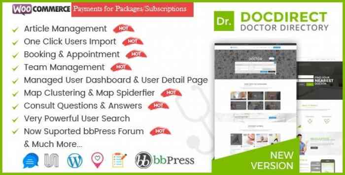 DOCDIRECT V8.0.5 – WORDPRESS THEME FOR DOCTORS AND HEALTHCARE DIRECTORY