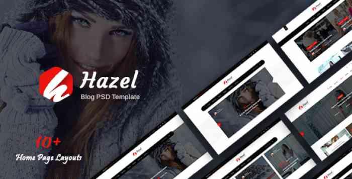 HAZEL – PERSONAL BLOG PSD TEMPLATE