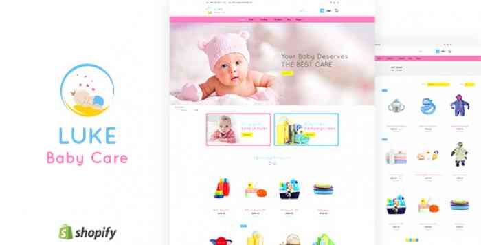 LUKE V1.1 – INFANTS & BABY CARE STORE SHOPIFY THEME