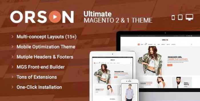 ORSON V1.1.1 – ULTIMATE MAGENTO 2 & 1 THEME