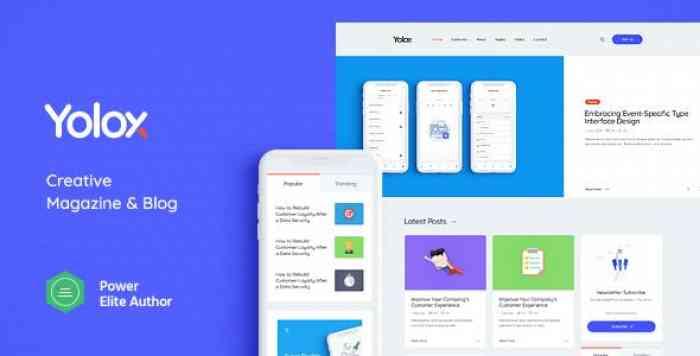 YOLOX V1.0 – MODERN WORDPRESS BLOG THEME FOR BUSINESS & STARTUP