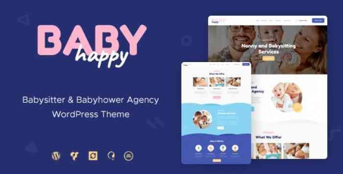 HAPPY BABY V1.2 – NANNY & BABYSITTING SERVICES WORDPRESS THEME