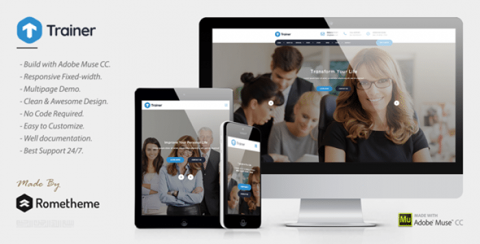 TRAINER – TRAINER, MENTOR AND COACH MUSE TEMPLATE
