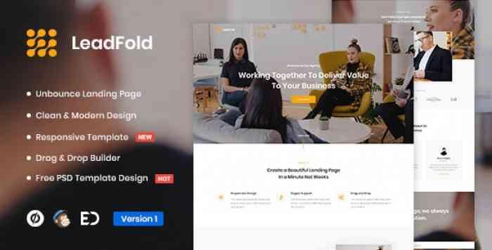 LEADFOLD V1.0 – LEAD GENERATION UNBOUNCE LANDING PAGE