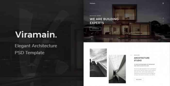 VIRAMAIN – ELEGANT & MINIMAL ARCHITECTURE PSD TEMPLATE