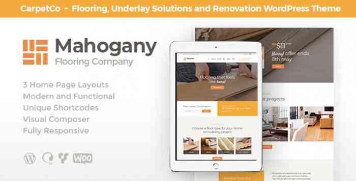 MAHOGANY V1.1 – FLOORING COMPANY WORDPRESS THEME
