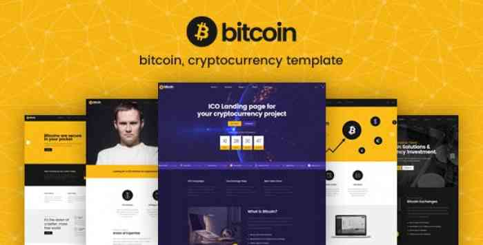 BITCOIN – ICO AND CRYPTOCURRENCY PSD TEMPLATE