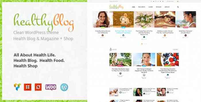 HEALTHY LIVING V1.2 – BLOG WITH ONLINE STORE WORDPRESS THEME